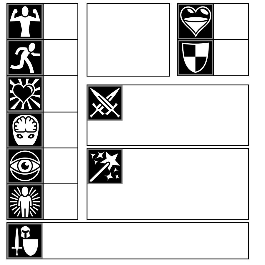 kids characters sheet